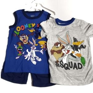 Other - looney tunes 3piece matching set  shorts tank